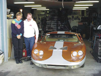 Daniel and Angie Standing By a Factory Valkyrie!